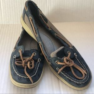 Sperry Top Sider Blue Anchor Boat Loafer 7.5 M